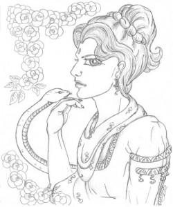 змея и девушка